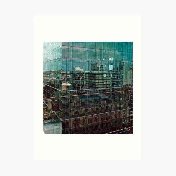Skyscraper Reflections in Reflections Art Print