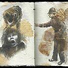 Altered Sketchbook by Cameron Hampton