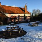 A Sprinkling Of Snow; The Bell, Cretingham by wiggyofipswich