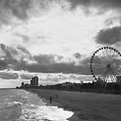 South Carolina Coastline - Myrtle Beach BW by andreaanderegg