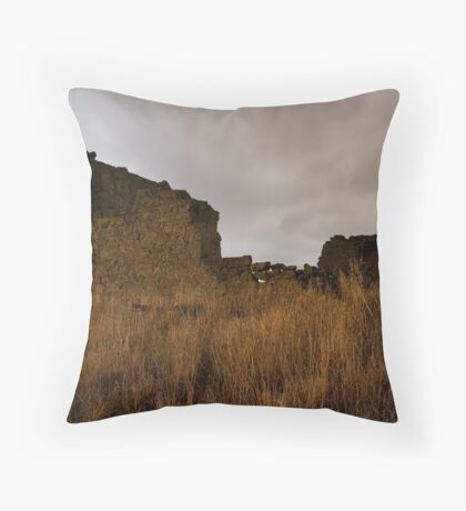 Ruins on the western plains Throw Pillow