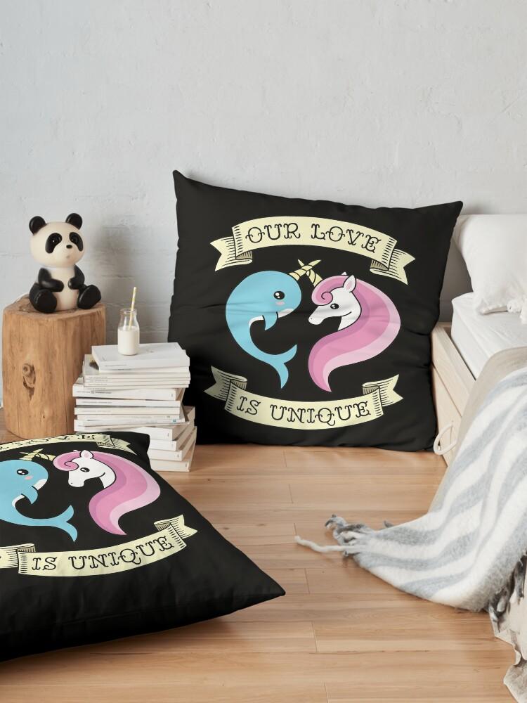 Alternate view of Unique Love Floor Pillow