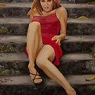 Lady in Red by Mike Johnson