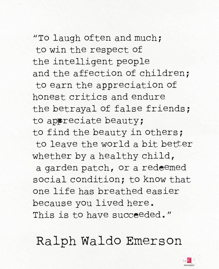 To Laugh Often And Much Ralph Waldo Emerson Quote Ipad Case Skin By Pagarelov Redbubble