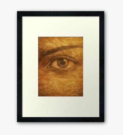 SEEPIA FORESIGHT Framed Print