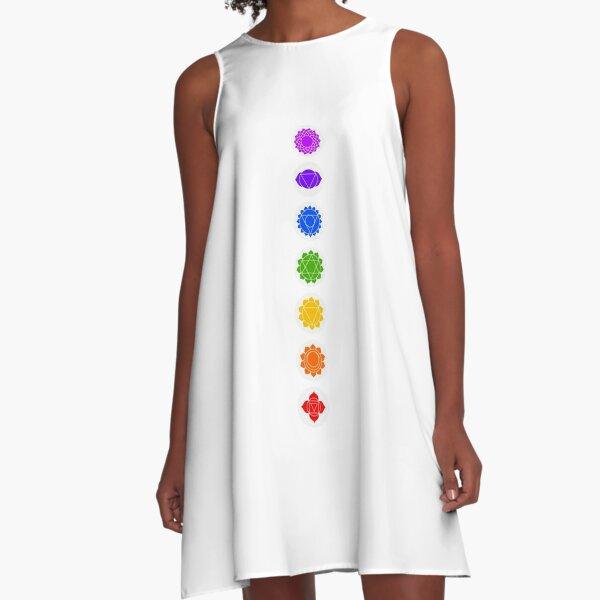 Reiki Seven Chakra A-Line Dress