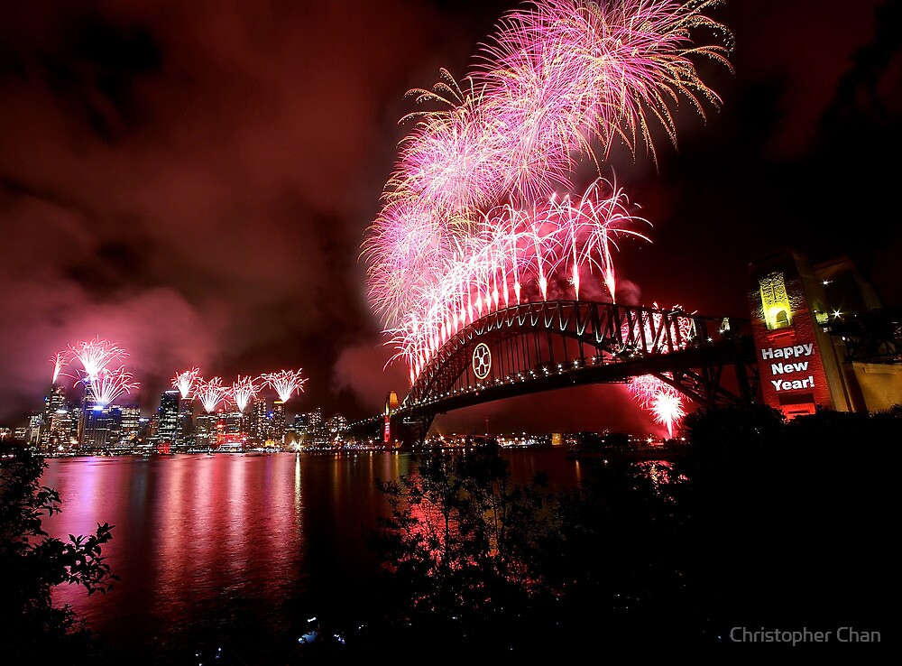 Sydney New Years Eve Fireworks 2007 by Christopher Chan