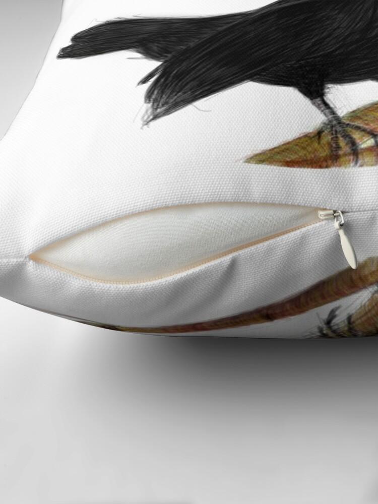 Alternate view of blackbird in love Throw Pillow