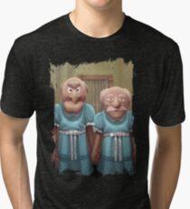 Muppet Maniac - Statler & Waldorf as the Grady Twins Tri-blend T-Shirt