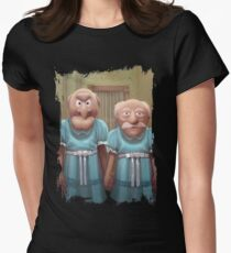 Muppet Maniac - Statler & Waldorf as the Grady Twins Women's Fitted T-Shirt