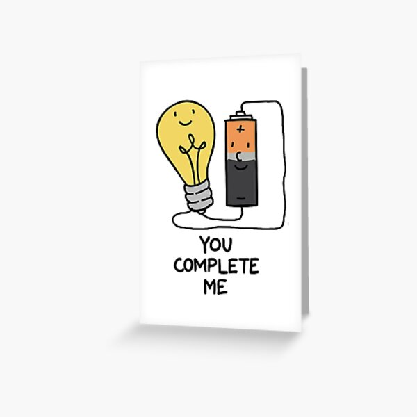 You complete me engineers valentines card Greeting Card