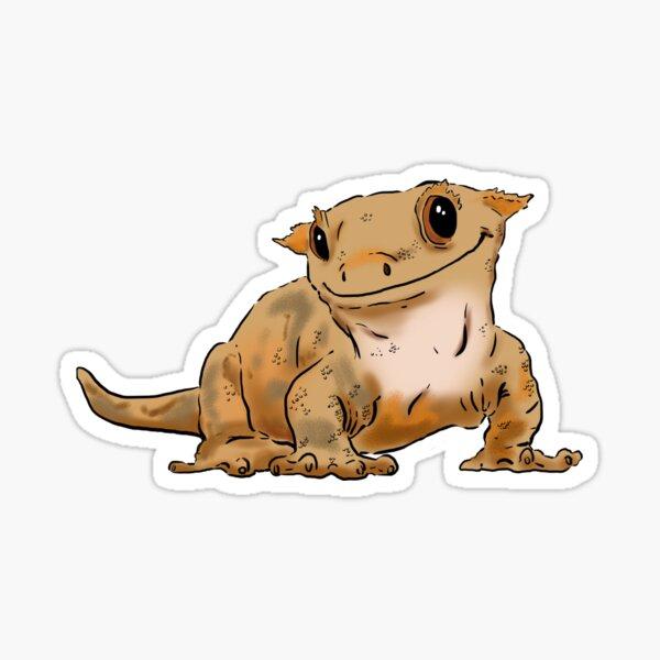 Smiling Crested Gecko, Cute Crested Gecko, Crestie Lover Sticker