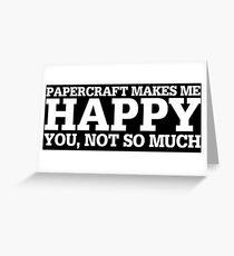 Tarjeta de felicitación Idea de regalo divertido de Papercraft