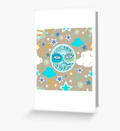 - Moon pattern - Greeting Card