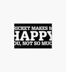 Cricket Funny Gift Idea  Art Board