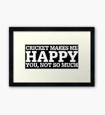 Cricket Funny Gift Idea  Framed Print