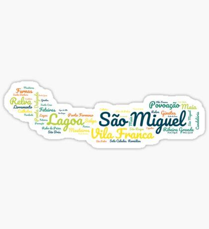 Sao Miguel Azoren Sticker