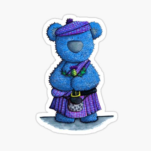 Scottish Tartan Bear Sticker