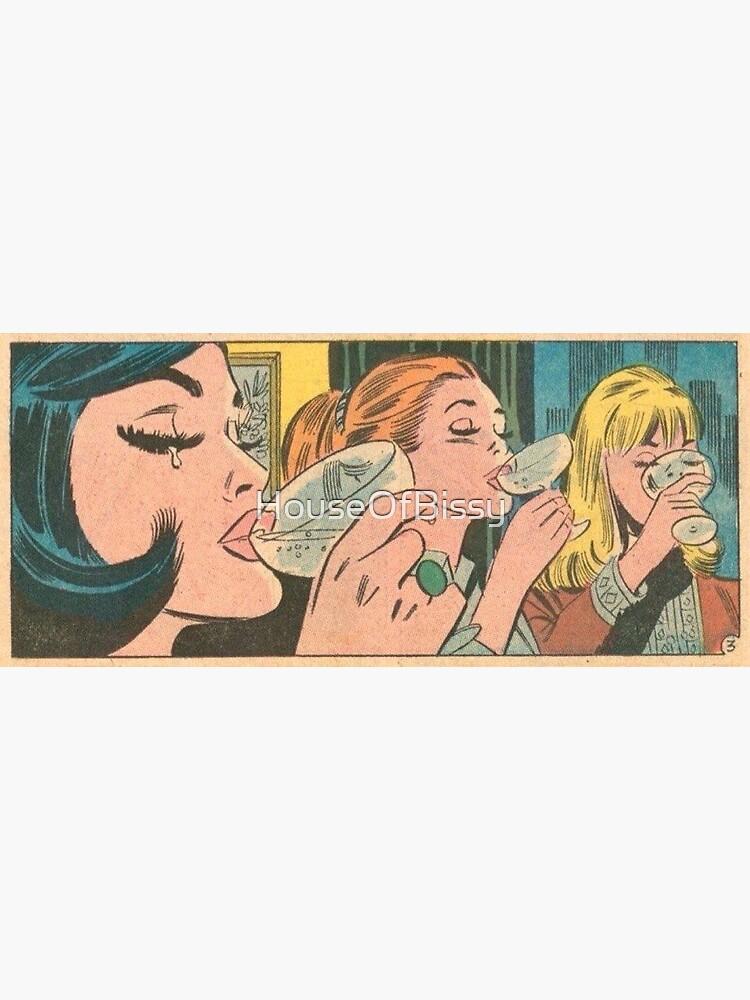 Girls Night Out Vintage Romance Comics,  comic kawaii pinup girl by HouseOfBissy