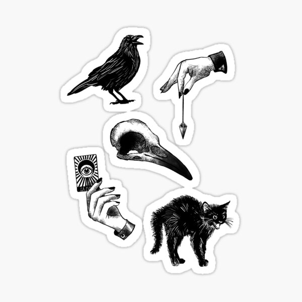 Just Witch Things - Feuille d'autocollants Sticker
