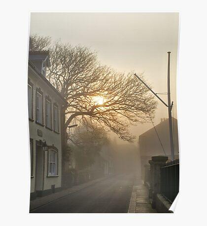Fog in QE2 Street - Alderney Poster