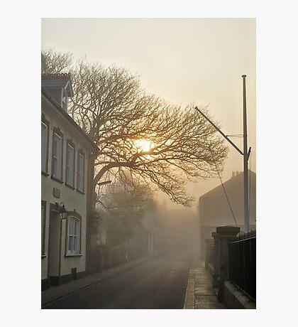 Fog in QE2 Street - Alderney Photographic Print