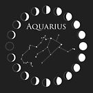 Aquarius Constellation and Phases of the Moon by Ryan McGurl