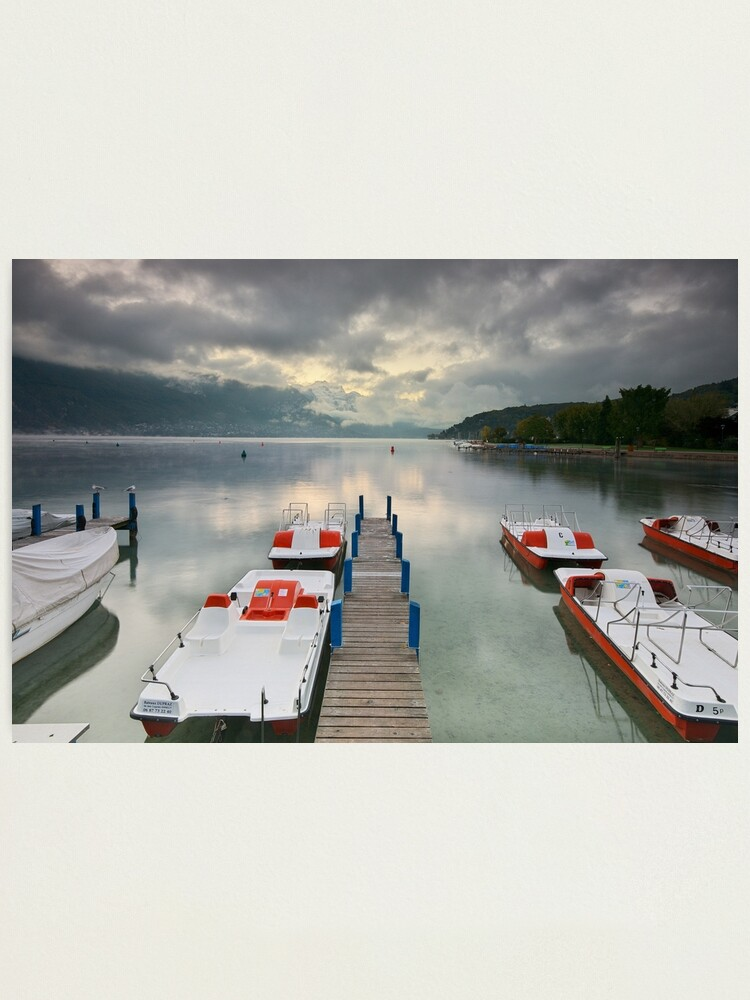 Alternate view of Annecy - Clouds over the lake Photographic Print