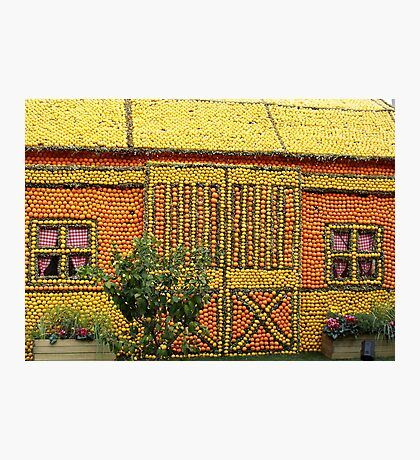 Citrus fruit house Photographic Print
