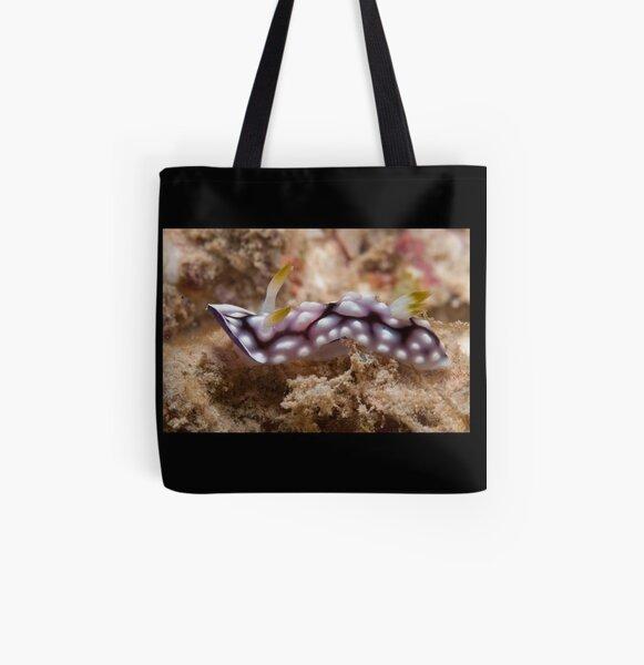 Chromodoris geometrica, Kapalai, Sabah, Malaysia All Over Print Tote Bag