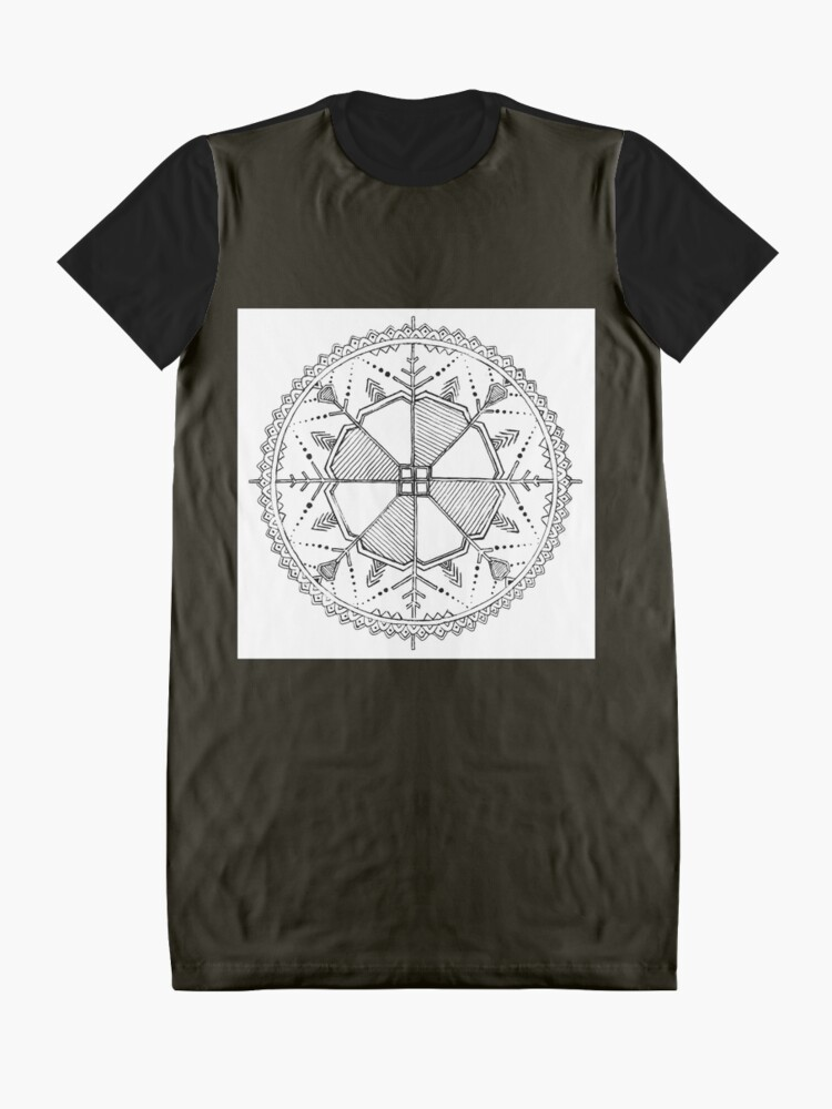 Alternate view of Latvian Sun Design Graphic T-Shirt Dress