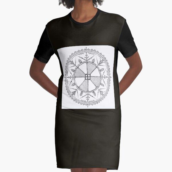 Latvian Sun Design Graphic T-Shirt Dress
