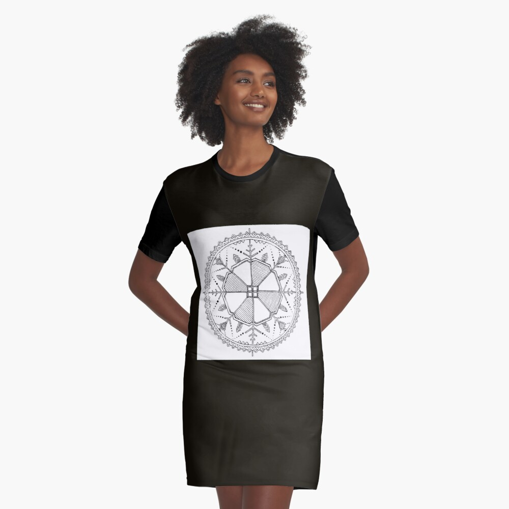 Latvian Sun Design Graphic T-Shirt Dress