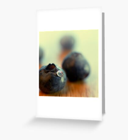 Blueberry portrait Greeting Card