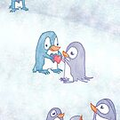 Present Penguins :: I give you my heart  by tinaschofield