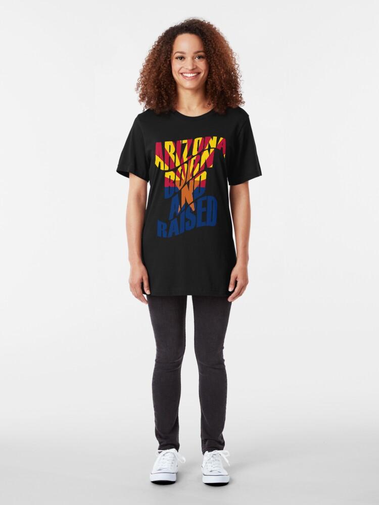 Alternative Ansicht von Arizona geboren und aufgewachsen Slim Fit T-Shirt