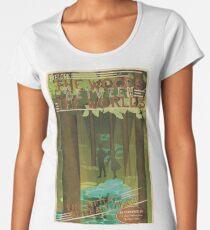 Camiseta premium de cuello ancho Los bosques entre los mundos