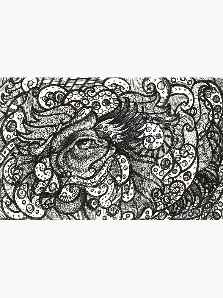 Black and White Eye Three by maryannart-com