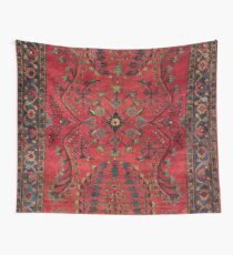 Red Persian Carpet - Persian Vintage Antique Carpet Nature Fine Art Wall Tapestry