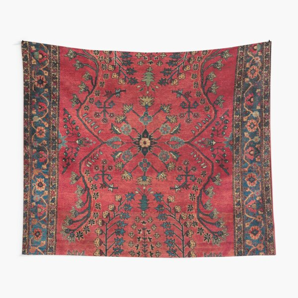 Red Persian Carpet - Persian Vintage Antique Carpet Nature Fine Art Tapestry