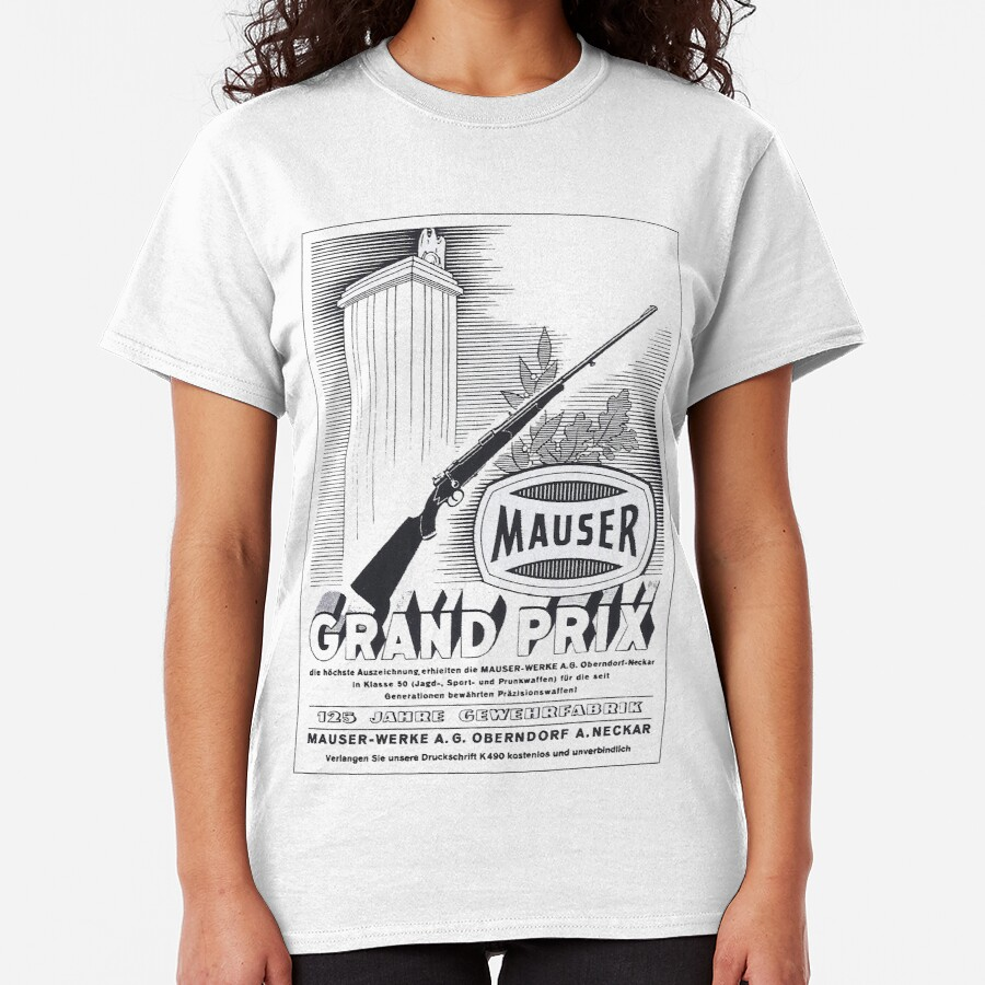 Vintage Mauser hunting rifle Classic T-Shirt