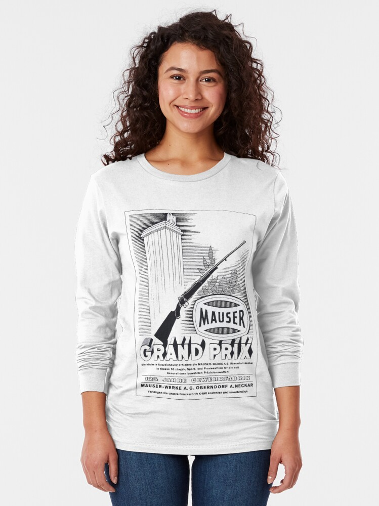 Alternate view of Vintage Mauser hunting rifle Long Sleeve T-Shirt