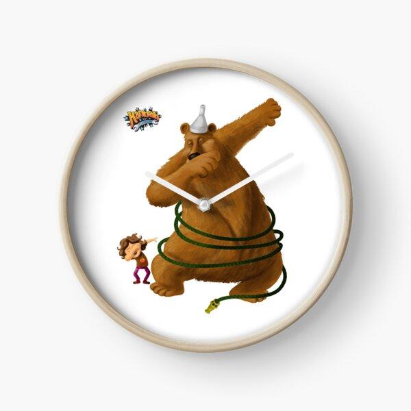 Hannah and the Dancing Bear dabbling in dabbing Clock