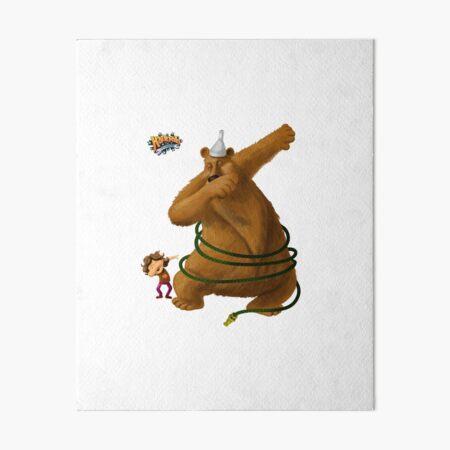 Hannah and the Dancing Bear dabbling in dabbing Art Board Print