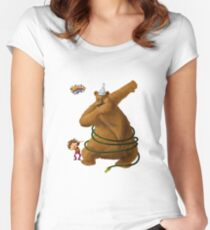 Hannah and the Dancing Bear dabbling in dabbing Fitted Scoop T-Shirt