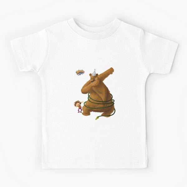 Hannah and the Dancing Bear dabbling in dabbing Kids T-Shirt