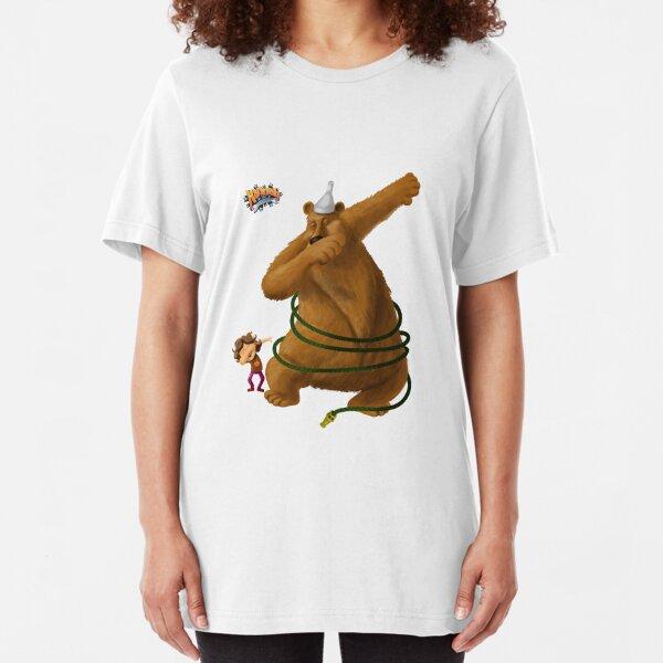 Hannah and the Dancing Bear dabbling in dabbing Slim Fit T-Shirt