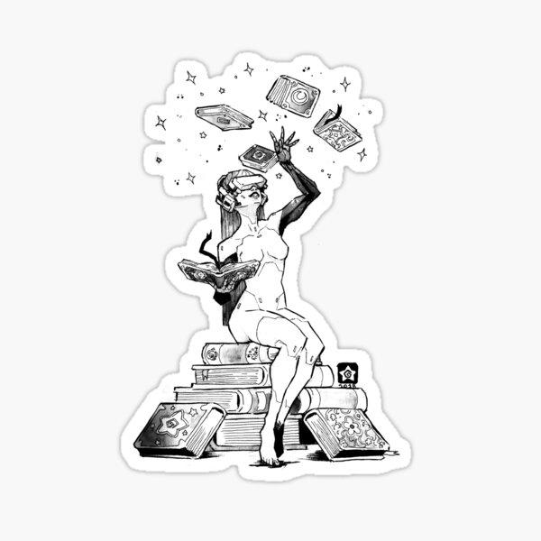 Cyborg Magician Girl Sticker