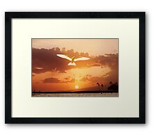 6:57 PM Hawaii Time Framed Print