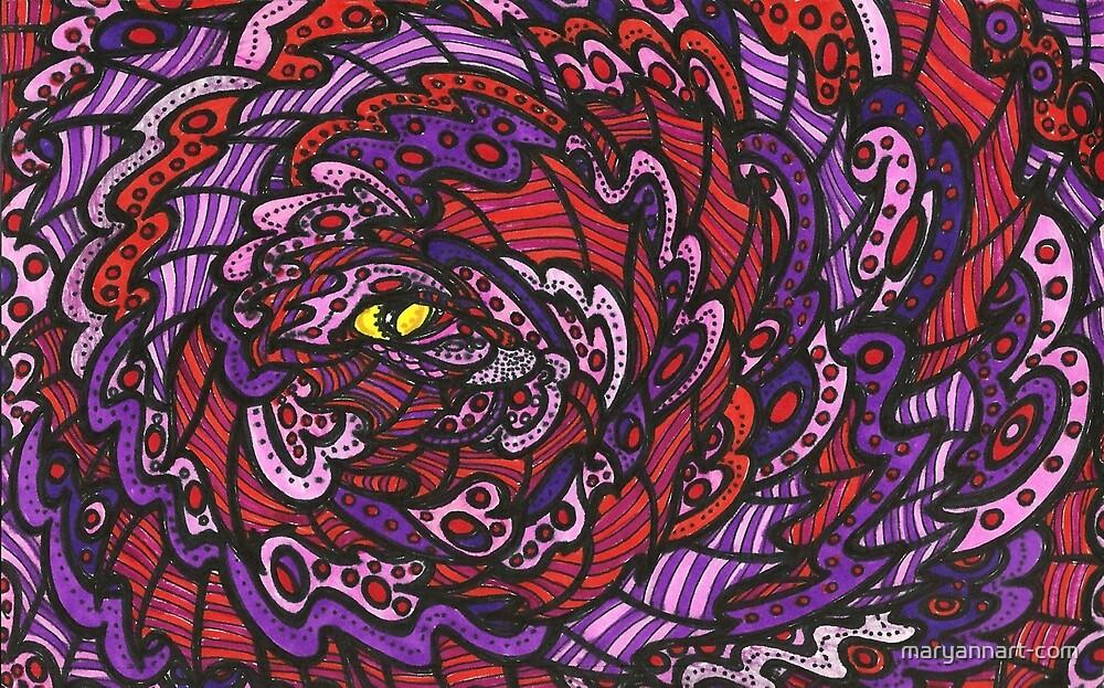 Purple Eye by maryannart-com